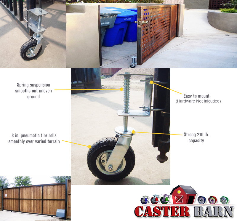 gate casters and gate wheels from caster barn