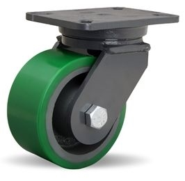 """Hamilton Champion Swivel Caster with 6"""" x 3"""" Duralast® Polyurethane (95A) on Cast Iron Wheel with 3/4"""" Sealed Precision Ball Bearings"""